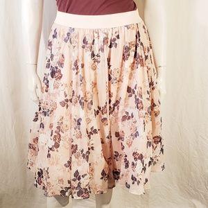 Torrid Pink Floral Full skirt size 1X